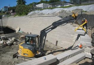 Mur de soutenement - Projet Sherbrooke