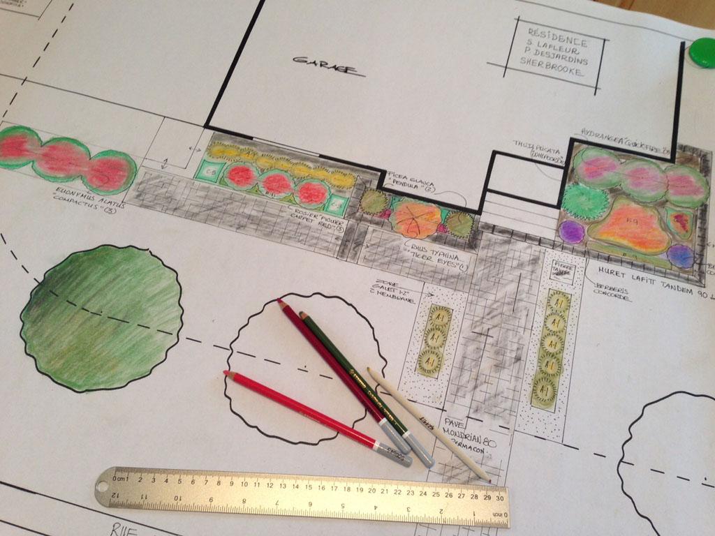 Plan d'aménagements paysagers